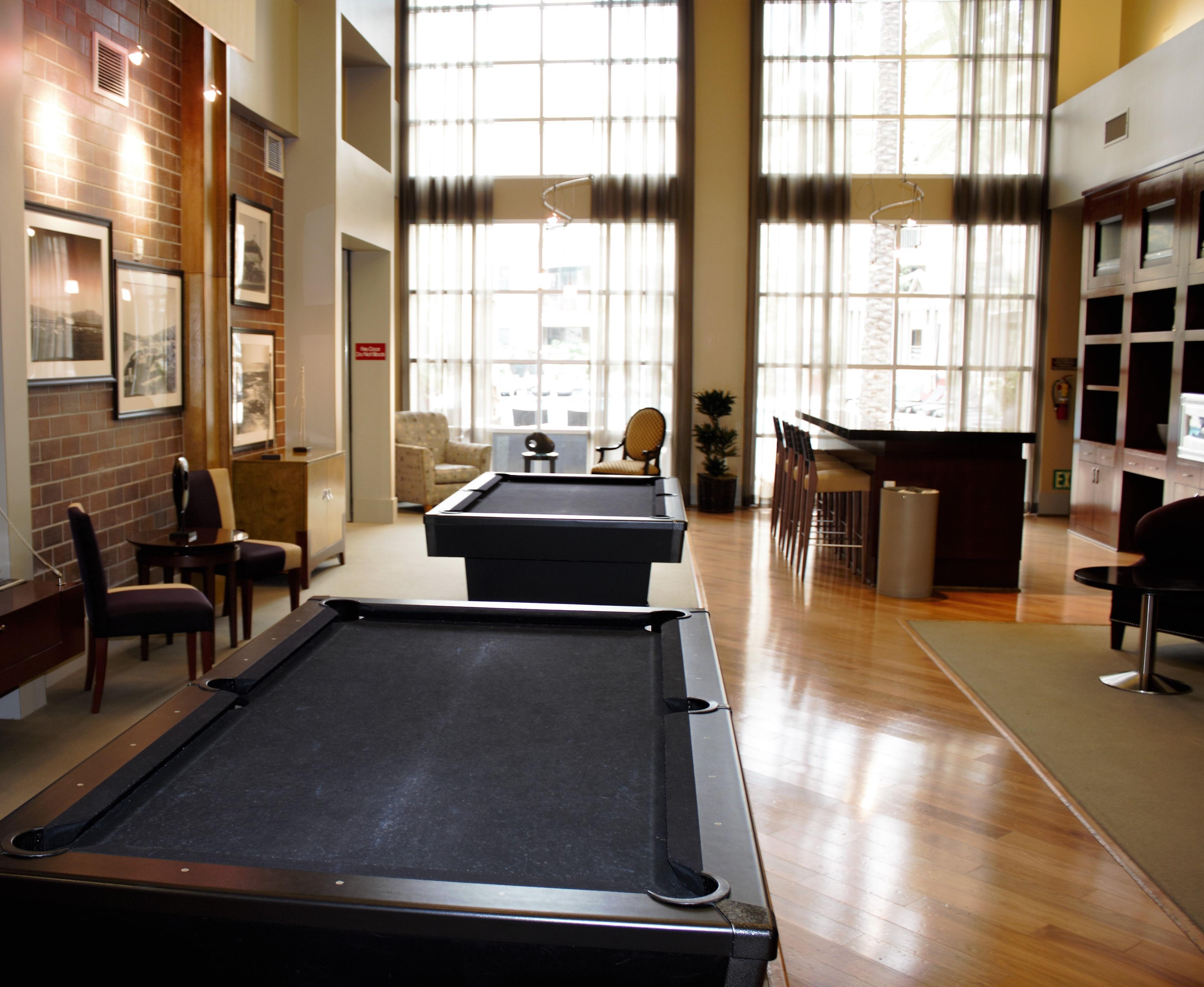 Billiards in Community Room