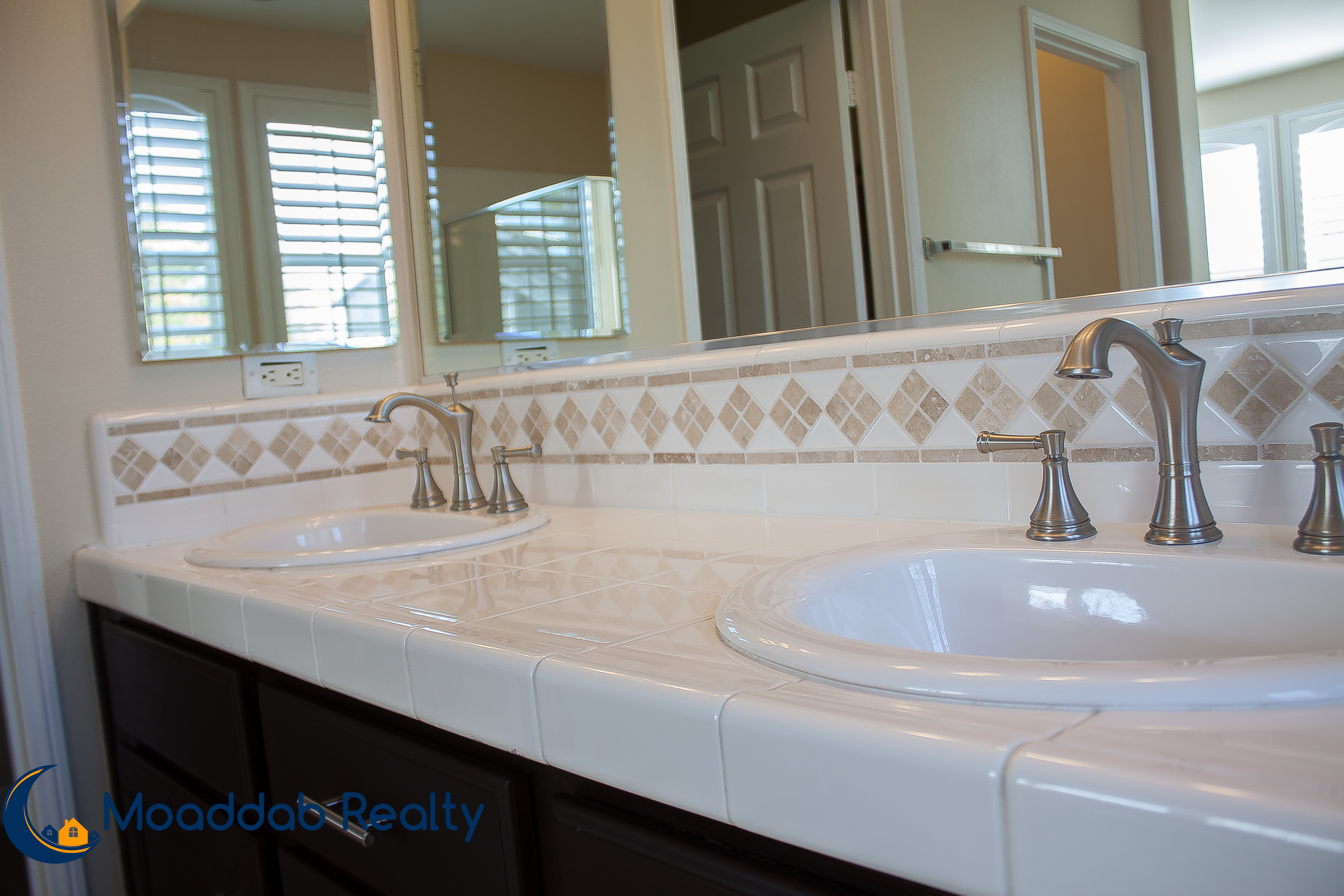 Master Bathroom Dual Vanity Sinks