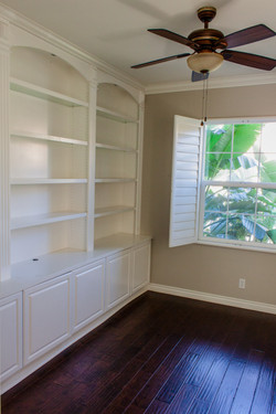 Office Room with Custom Cabinets