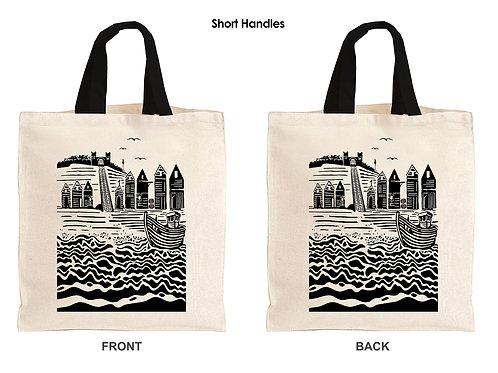 Short handled tote bag