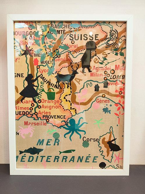 """Tableaux """"ma géographie"""" sud-est méditerranée"""