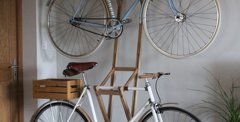 Bike hanger for two bicycles