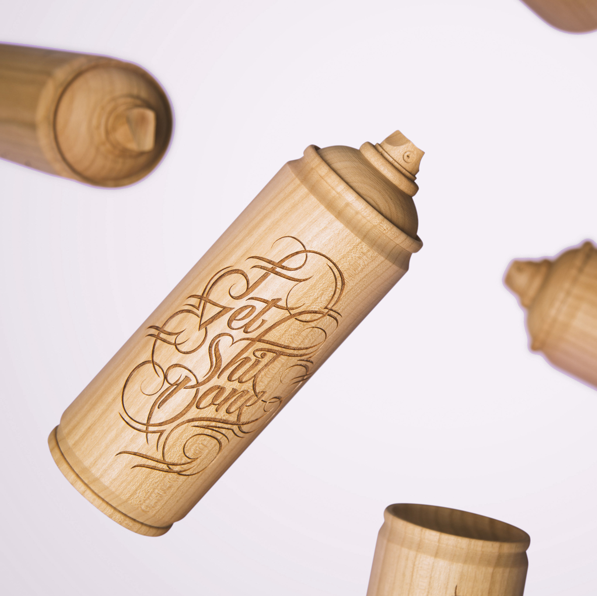 wooden spray can