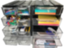 organizer na biurko chowaj.com modułowy organizer z szufladkami przeźroczystymi
