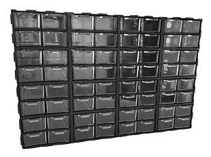 Szafka z szufladkami, szufladki przeźroczyste, szufladki dla elektroniki, szafka z szufladkami, zestaw XL64