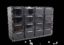 chowaj.com, zestaw dużych szufladek w modułowej obudowie