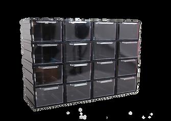 Szufladki przeźroczyszte w obudowie XL16