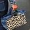 Thumbnail: Sac isotherme en toile denim et éponge en coton imprimé léopard