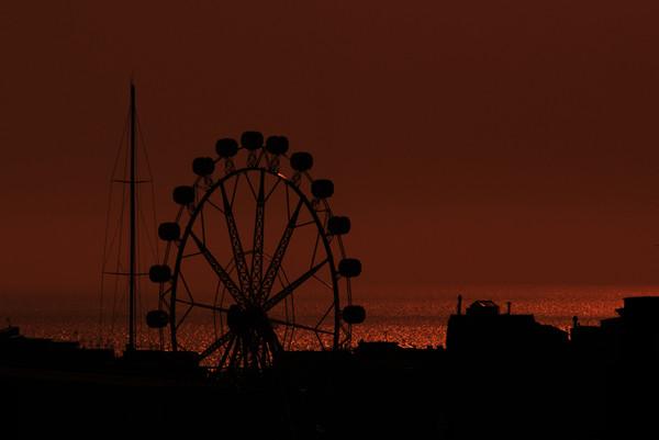Sunset on a Ferris Wheel