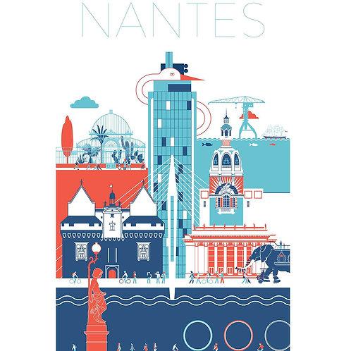 AFFICHE DE NANTES 40x60