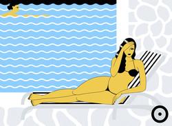 femmes piscine