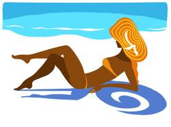 femme sur le sable
