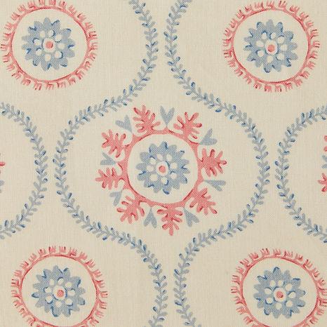 Tasha Textiles Suzani Blue Pink