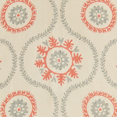 Tasha Textiles Suzani Grey Clementine