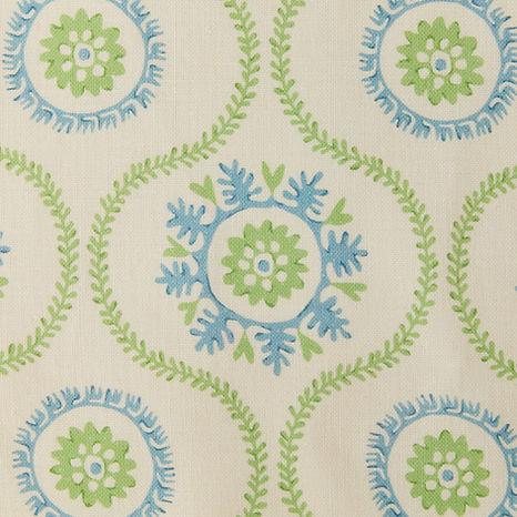 Tasha Textiles Suzani Green Blue