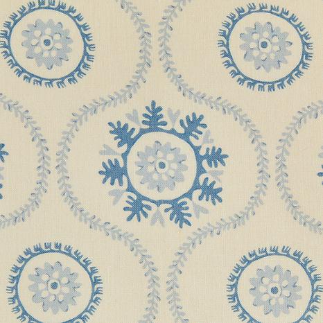 Tasha Textiles Suzani Blue Blue