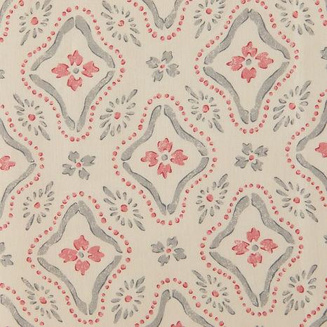 Tasha Textiles Polonaise Grey Pink