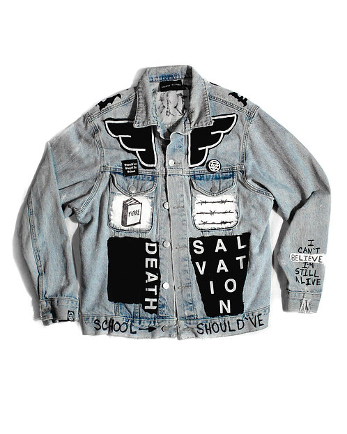 School Jacket (One-Off Hand Painted/Sewn)