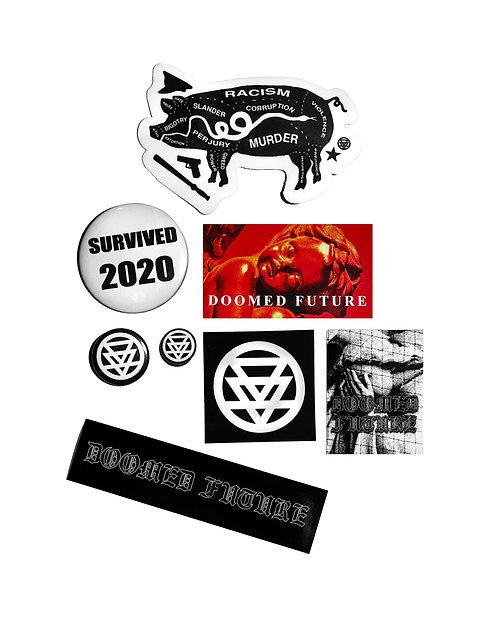 Mixed Sticker & Button Pack
