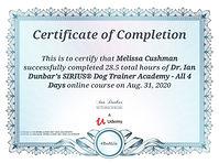 Ian Dunbar Sirius Dog Trainer 4 day semi
