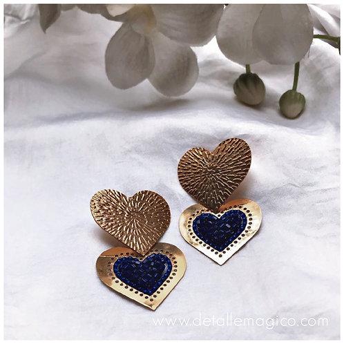 Aretes | Corazón Azul