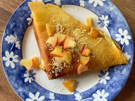 Crepre Dulce de Manzanas Caramelizadas