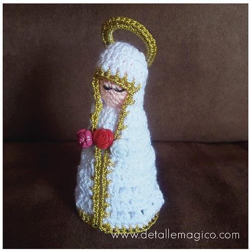 Muñeca| Virgen de Rosa Mística en Crochet