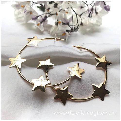 Aretes | Candongas Estrellas - Santajacinta
