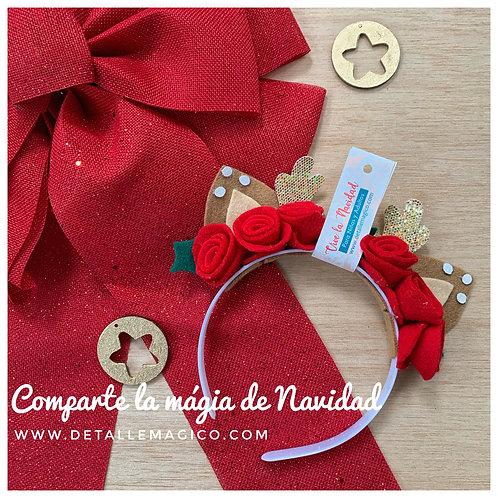 Diadema, Balaca, orejas reno de navidad, Detalles, Regalos Originales, Regalos Personalizados, Cali, Colombia, Accesorios