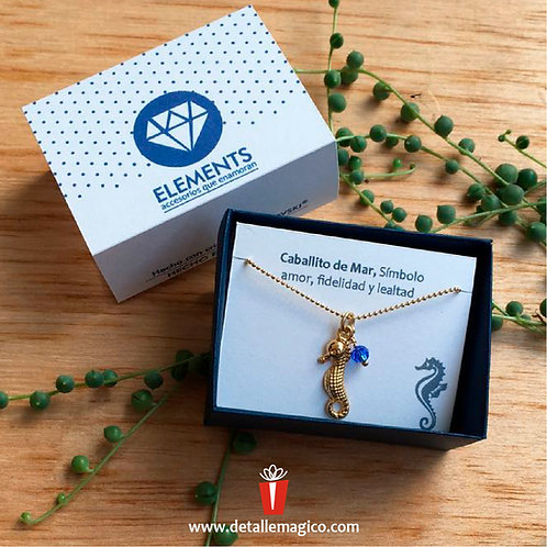 Cadena Caballito de mar, prosperidad, detalles de amor, regalos, Colombia