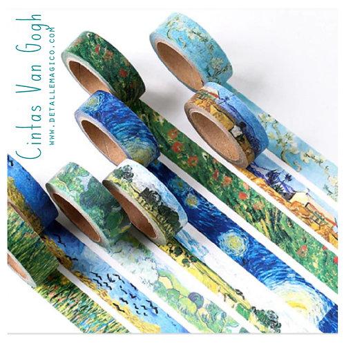 Cinta pegante diseño, Arte, Galeria, Van Gogh, Impresionismo, regalos Colombia, Detalle Mágico