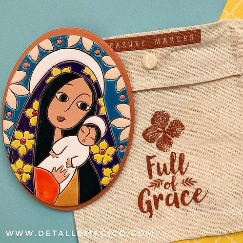 Arte | Virgen María - Retablo Ovalado