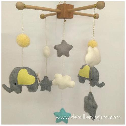 Decoración   Móvil Elefantes & Estrellas