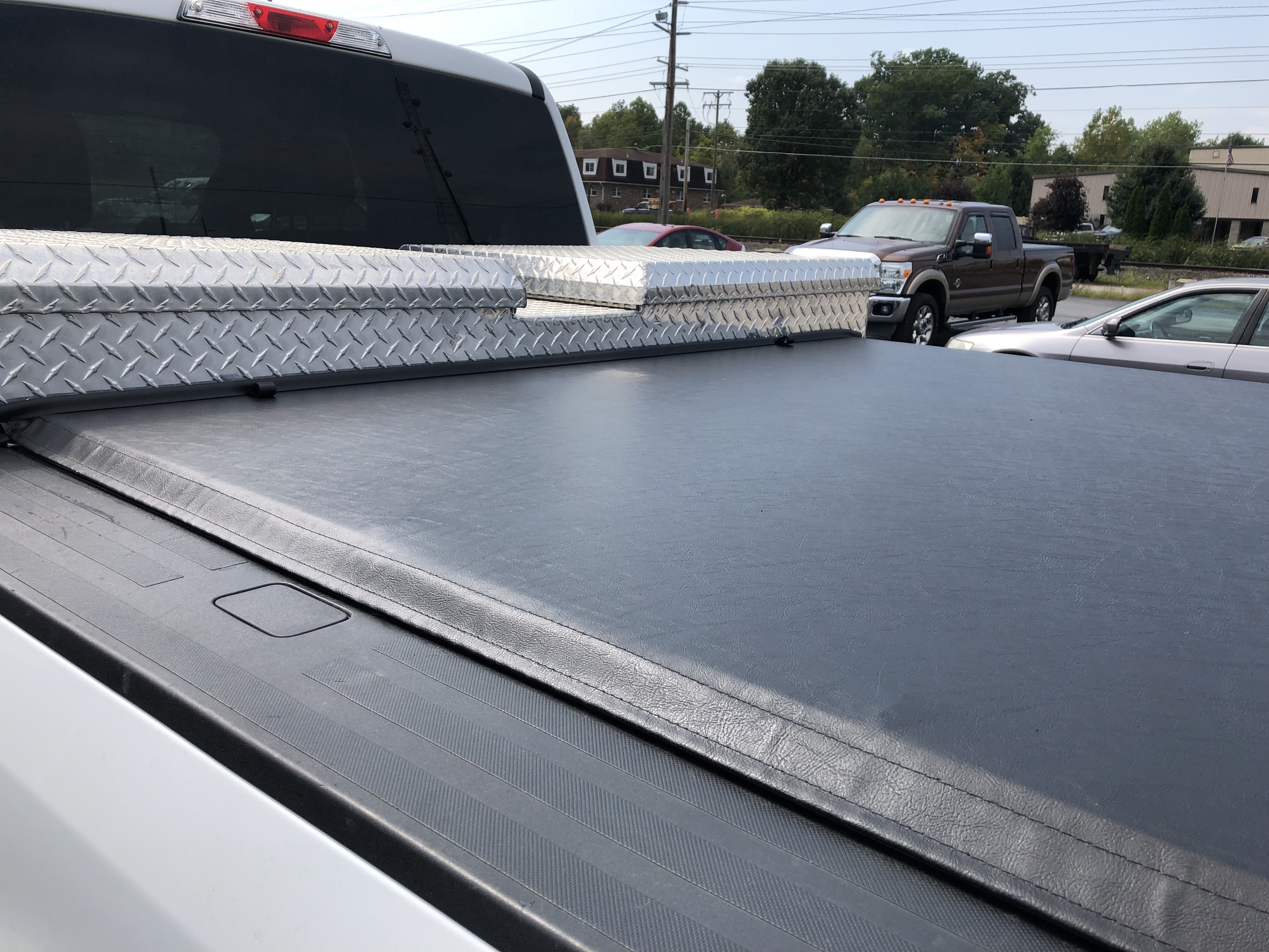 Tonneau Cover with Tool Box Cut Out