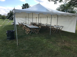 White Tent with Sides