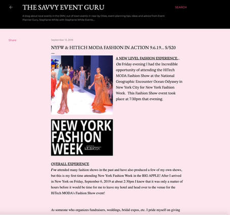 Savvy Event - NYFW hiTechMODA Season 2