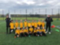 Stotfold U8 Purples-Yellows Squad Photo.