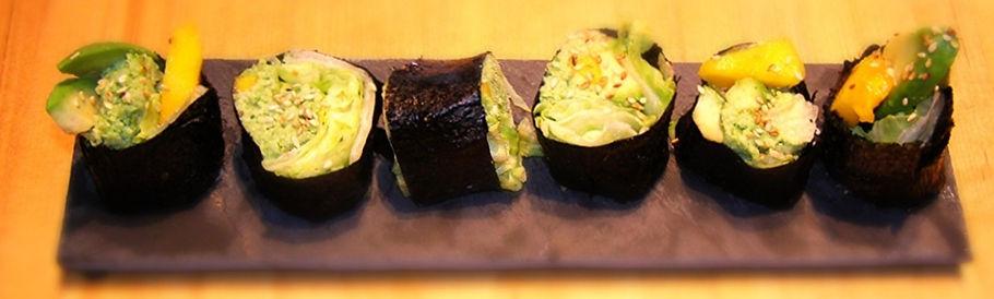Sushi à la pâte d'edamame