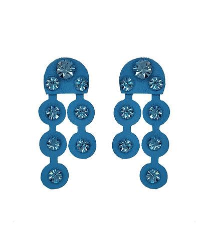 Brinco Vitral Duo Azul