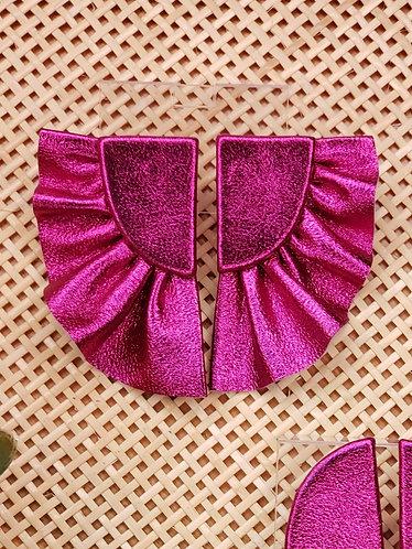 Brinco Pétala Rosa Metalizado P