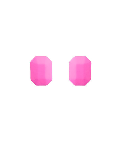 Brinco Geo nº 0 Rosa Neon