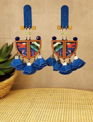 Brinco Flora Azul