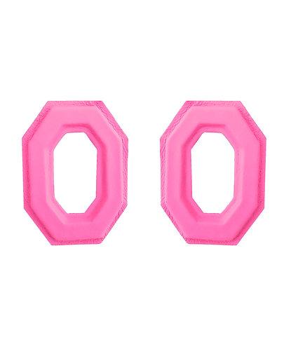 Brinco Geo nº1 Rosa Neon