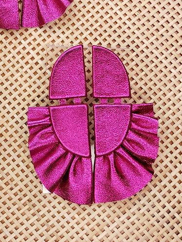 Brinco Pétala Rosa Metalizado G