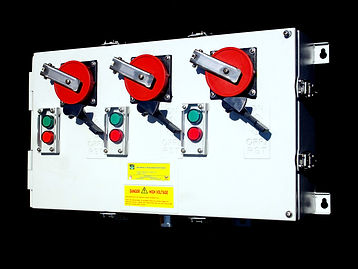 3 Gang Reefer Container Socket with Pilot Lamp, Multi Gang Reefer Socket, Reefer Automation, IP3X3210, Custom Design