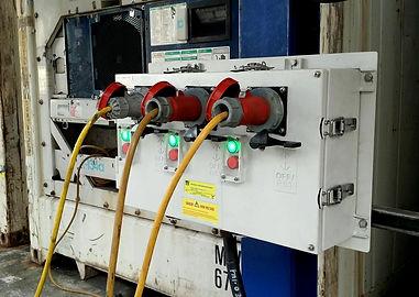 3 Gang Reefer Socket with Pilot Lamp, Multi Gang Reefer Socket, Reefer Automation, IP3X3210