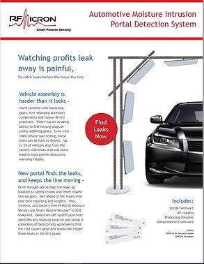 Brochure - Automotive Moisture Intrusion