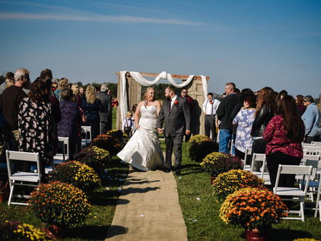 Tori and Andy Bennett's wedding at Vintage Venue in Urbana, Ohio