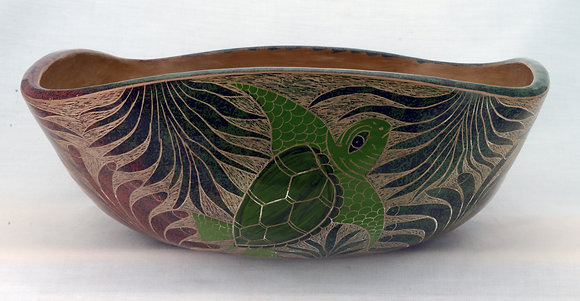 Traditional Bowl with Turtles