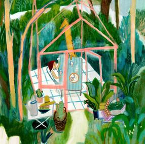 Tea Time in a Garden